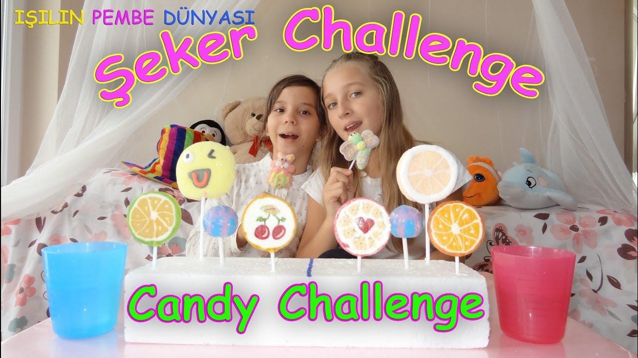 Eğlenceli Şeker Yeme Yarışması Kim önce bitirecek? - Eğlenceli Çocuk Videosu   Candy Challenge