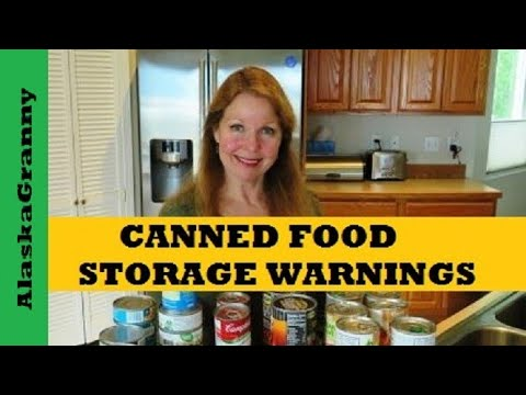 Canned Food Storage Warnings