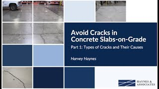 Part I: Types of Cracks and Their Causes