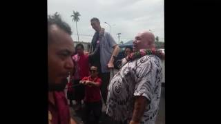 World's tallest man in Samoa