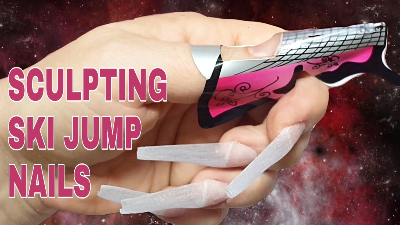 Sculpting Bases For My Milk Bath Nails Sculpting Ski Jump Nails Black Swan Beauty Youtube