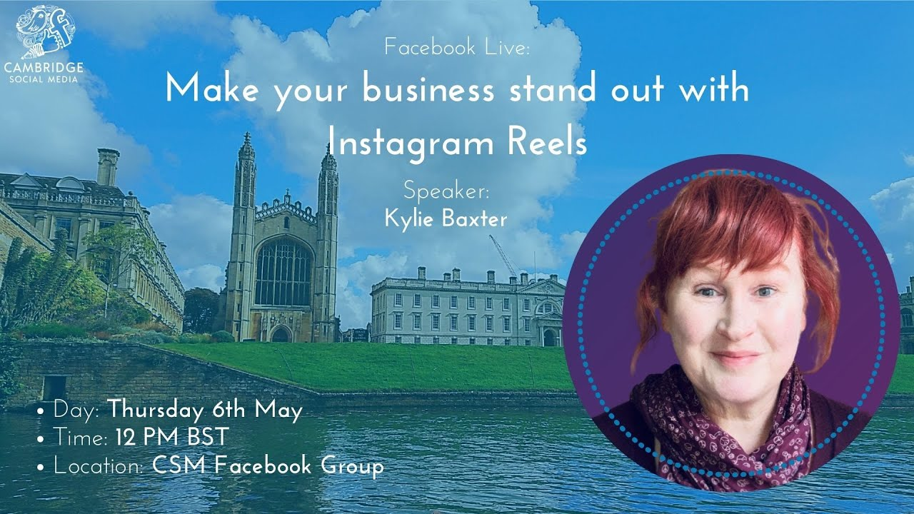 Make your business stand out with Instagram Reels with Kylie Baxter   FB Live