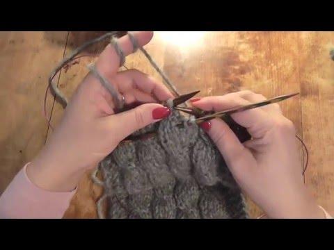 Kurz pletení - copánky, jak se plete šála; How to Knit a Cable