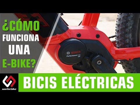 ¿Cómo funciona una bici eléctrica?