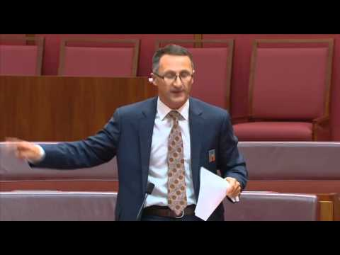 Richard Di Natale delivers a stinging critique of the Abbott Govt