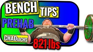 Bench Press Tips Powerlifting Style | Record Holder Chad Aichs Shows You Shoulder Prehab Cleans
