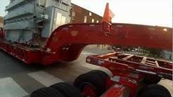 Richards Transport 64 wheeler hauling a transformer
