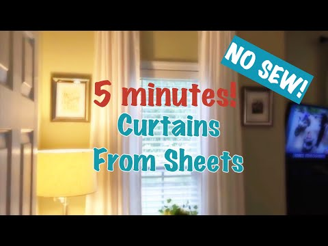 DIY Curtains Out of Sheets