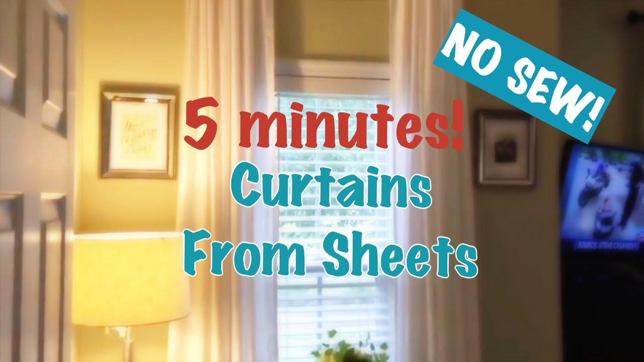 how to make window curtains yourself