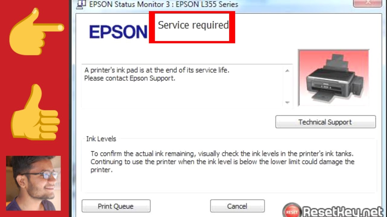 EPSON PRINTER SERVICE REQUIRED SOLUTION, RED LIGHT BLINKING SOLUTION EPSON  L10 / L10 👈👍