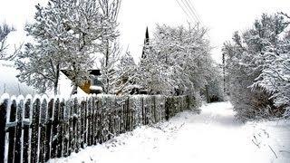 Вот как в белорусской деревне зимой.(Колодищи)
