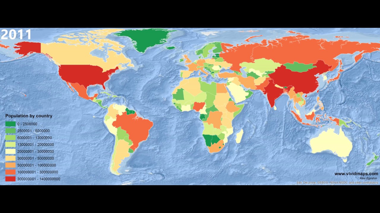 world population by country 2000 2016 vivid maps