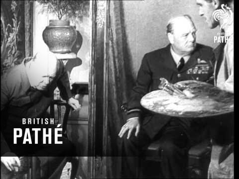 Churchill Sees His Painting (1946)