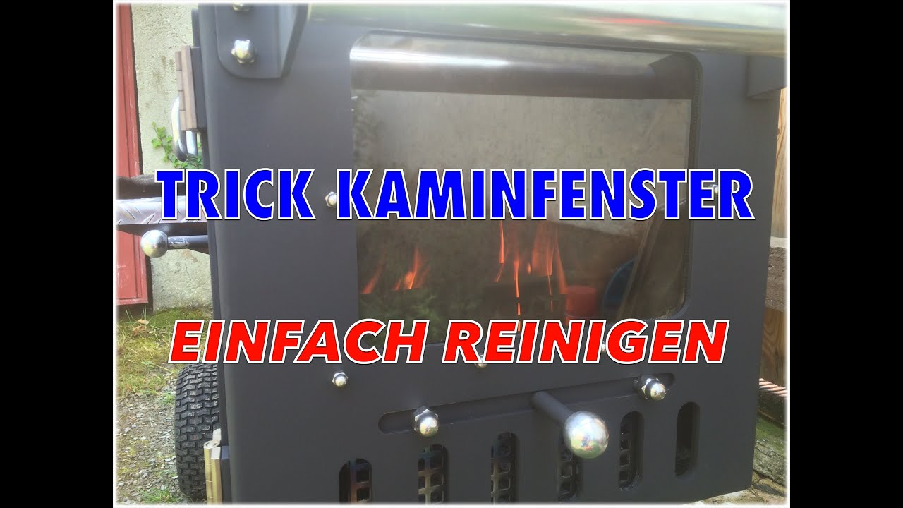 kaminscheibe ofenscheibe ofenfenster reinigen trick einfach klaus youtube. Black Bedroom Furniture Sets. Home Design Ideas