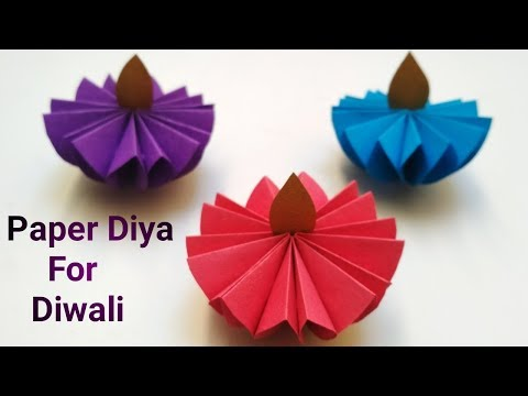 Diwali Decoration Idea | Diy Paper Diya For Diwali | Easy Diwali Craft Idea