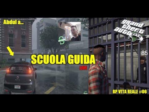 GTA 5 MOD RP VITA REALE #6 - Abdul a Scuola Guida - Auto Reali - Lavoriamo Meth