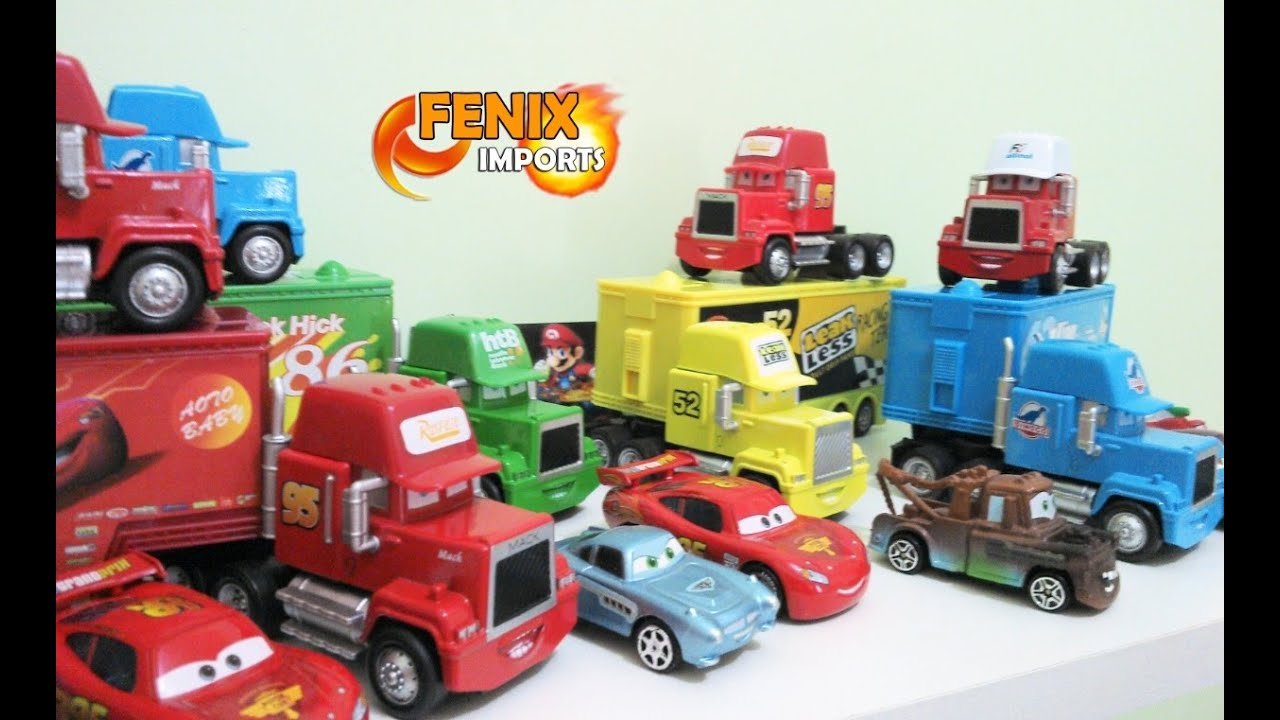 carretas filme carros pixar cars trucks mack macqueen haulers