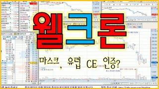 웰크론 (마스크, 유럽 CE 인증?) - 주식 팅킹 (…