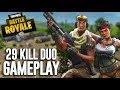 Crazy 29 Kill Duos Gameplay!! - Fortnite Gameplay - Ninja & Dr Lupo