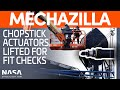 أغنية Hydraulic Actuator Lifted For Fit Checks On Mechazilla S Chopsticks SpaceX Boca Chica