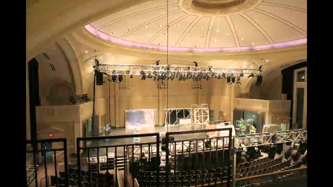 Time Lapse Of Setup For The Democratic Debate At UW Milwaukee