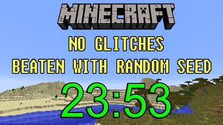 [World Record] Minecraft Beaten in 23:53 | Random Seed Glitchless Any% Speedrun