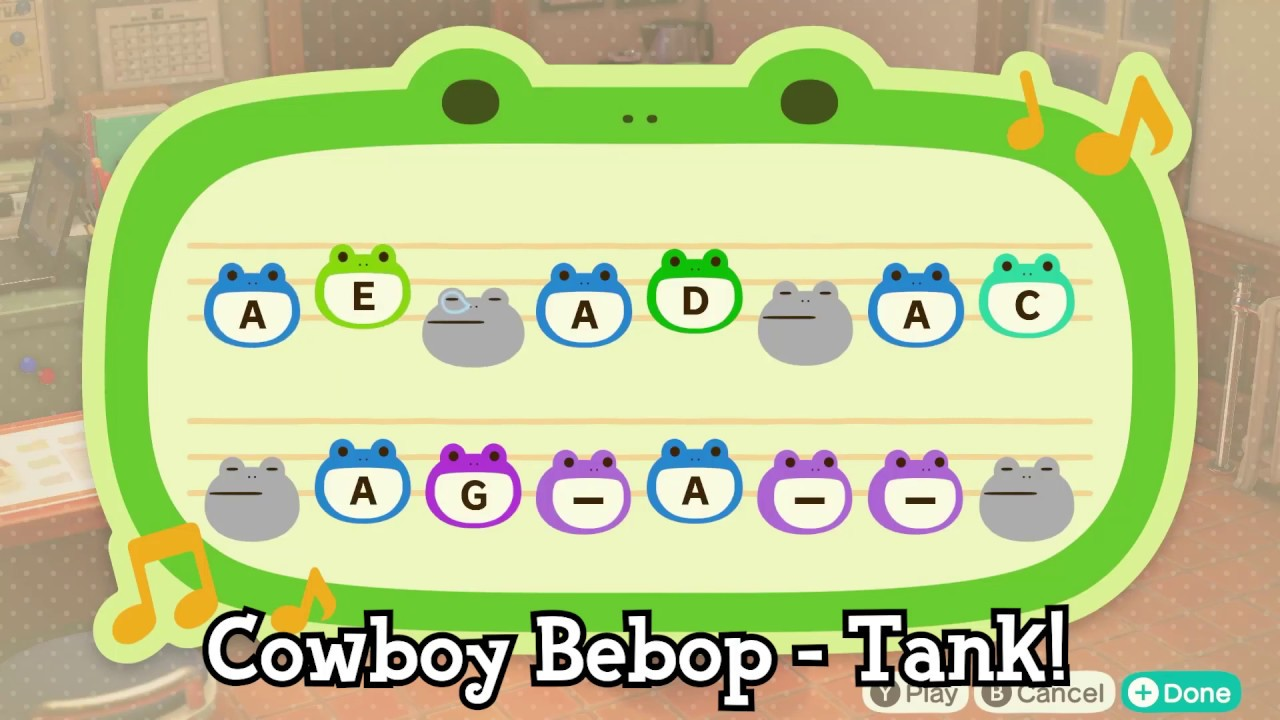 Cowboy Bebop Tank Animal Crossing New Horizons Island Tune Youtube