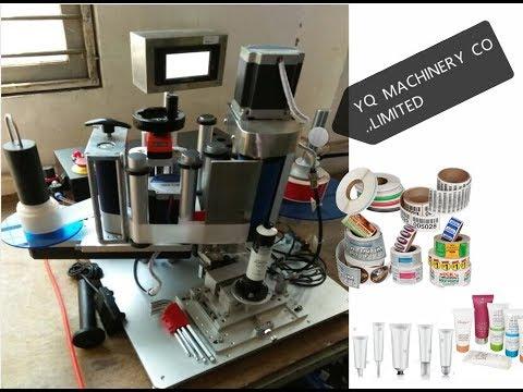 Custom Made soft tube labeling machines semi auto sticker adhesive label applicator equipment
