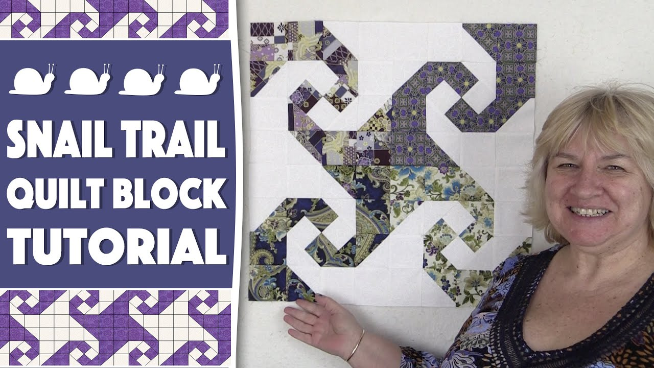 Quilting Blocks Snail Trail Quilt Block Tutorial Youtube