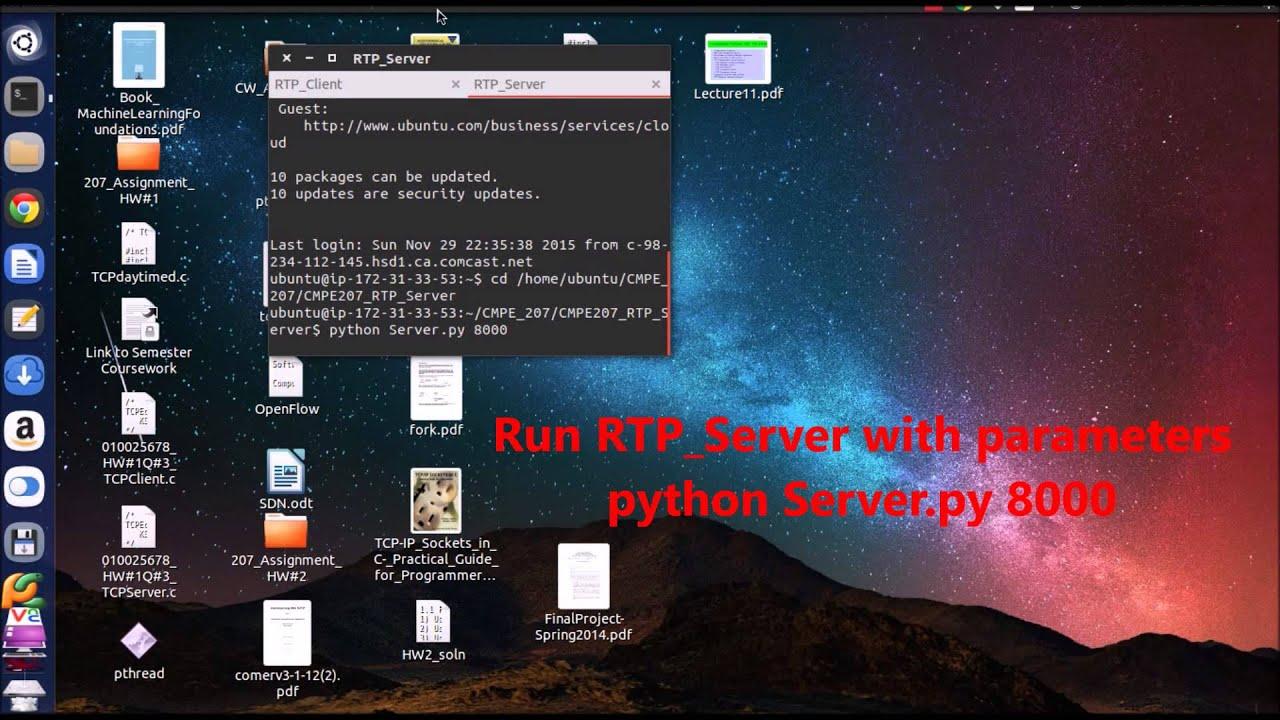 RTP/RTSP Streaming (Cloud Server, Python)