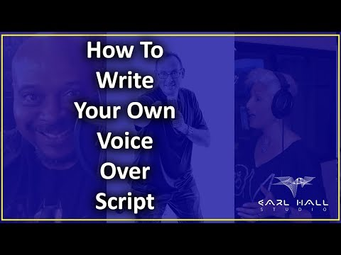 How To Write Your Own Voice Over Script