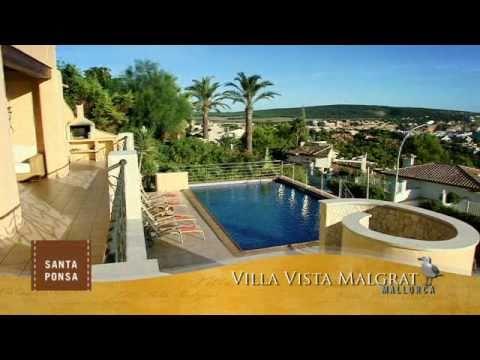 immosalesclip mallorca villa vista malgrat in santa ponsa youtube. Black Bedroom Furniture Sets. Home Design Ideas