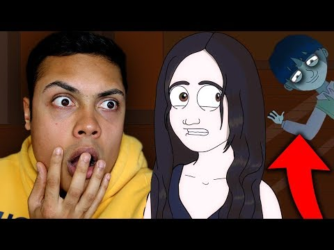 REACTING TO TRUE HORROR STORY SCARY ANIMATIONS