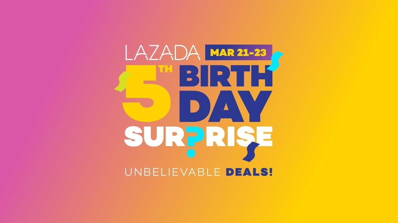 0ebc2c9da23e Lazada 5th Birthday Surprise Sale - YouTube