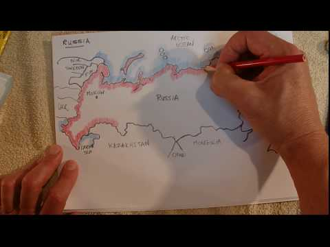 ASMR - Map Of Russia - Australian Accent - Chewing Gum & Describing In A Quiet Whisper