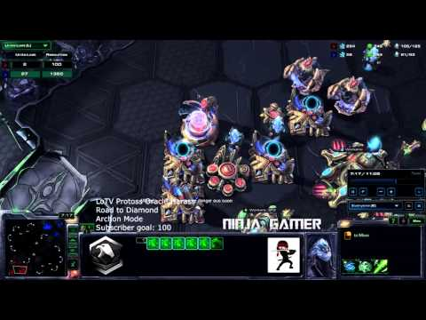Starcraft 2 Legacy of the Void HD Ultra  Protoss Oracle Harass (Archon Mode)
