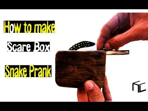 How to make Scare Box Snake Prank  (Tutorial ).