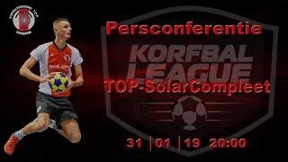 Persconferentie TOP/SolarCompleet, donderdag 31 januari 2019