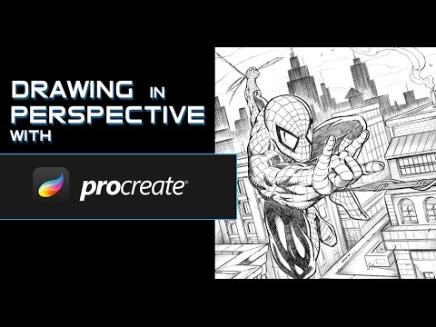 Perspective Drawing on the iPad pro in Procreate - YouTube