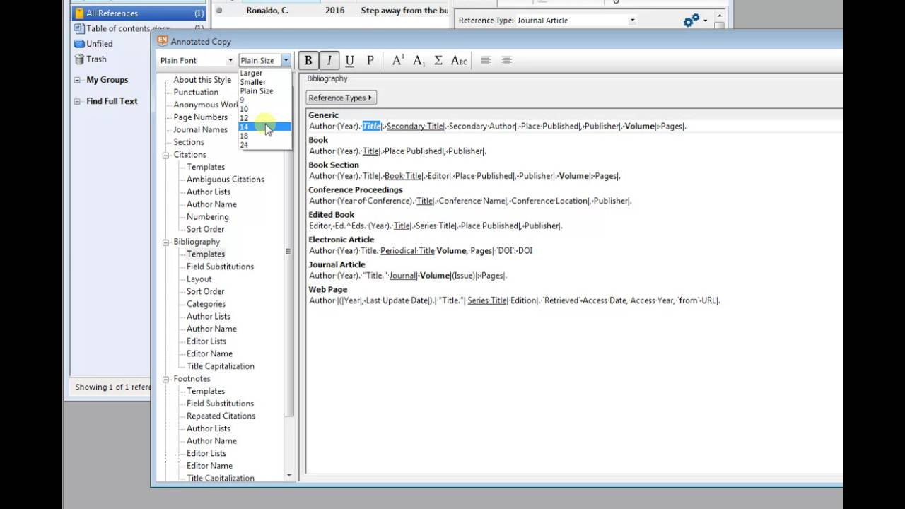 how to format a reference list bibliography in endnote how to format a reference list bibliography in endnote