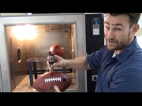 Deflategate - Engineering company demonstrates temperature