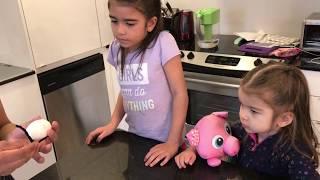 COLORING EASTER EGGS - Learning Colors - Kindergarten Family Fun Vlog - Kinder Playtime