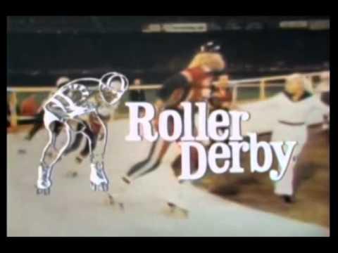 1970s Roller Derby TV Intro - Largest Ever Roller Derby Crowd