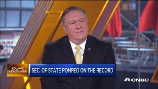 Secretary Mike Pompeo weighs in on the China trade war and US conflict with Huawei