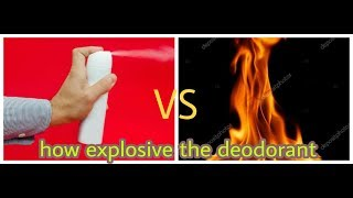 Experiment AXE body spray VS fire | How explosive the body deodorant | By The Photography Lover