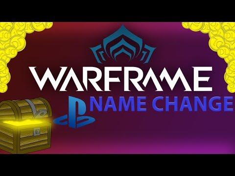 WARFRAME   PS4 Name Change!