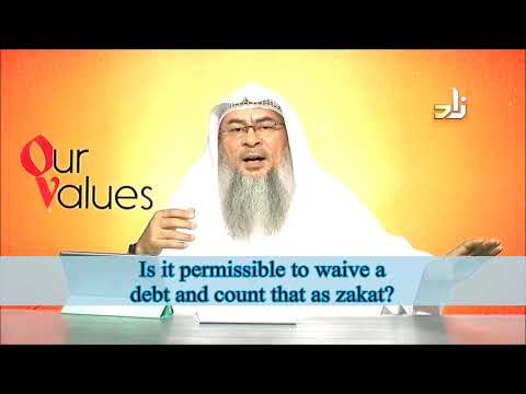 It is not permissible to waive a debt and count that as zakat | Sheikh Assim Al Hakeem