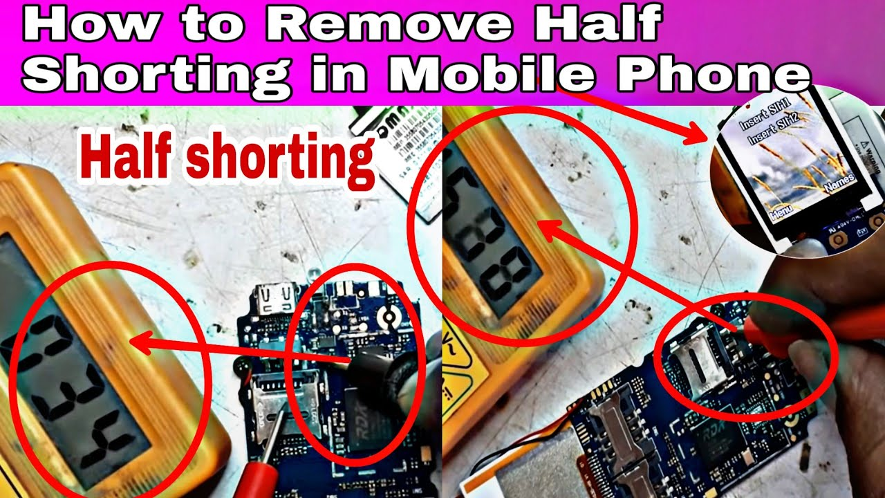 How To Remove Half Shorting In Mobile Phone Or Check This Tester Can Be Used Ic Printed Circuit Boards Two 4 K With Multimeter