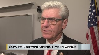 Gov. Phil Bryant on his time in office Gov. Phil Bryant on his time in office.