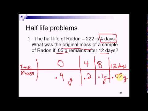 Physical Science Unit 3 - 4h Nuclear Decay and Half Life - YouTube